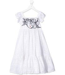 raspberry plum greta lace dress - white
