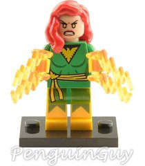 unbranded pheonix jean grey minifigure marvel universe fits lego uk seller