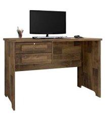 mesa para computador escrivaninha 2 gavetas alemanha amadeirado - rv móveis
