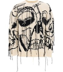 alexander mcqueen sweater with skull intarsia