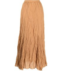 mes demoiselles crinkle-effect skirt - orange