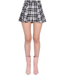 red valentino tartan shorts with folds
