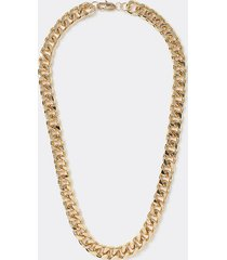 river island mens gold colour chunky chain necklace