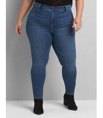 lane bryant women's deluxe fit high-rise skinny jean - dark wash 28l dark denim