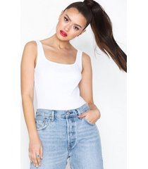 missguided square neck cotton jersey body bodys