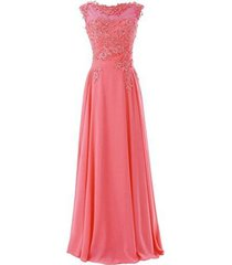 blevla elegant cap sleeves lace appliques evening party gown prom dresses cor...