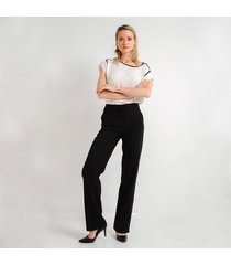 pantalon para mujer en poliester negro color negro talla 6