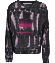 isabel marant logo print sweatshirt