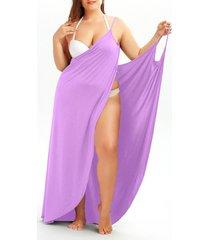 plus size convertible wrap beach cover up dress