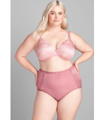 lane bryant women's no-show high-waist brief panty with lace 34/36 mesa rose