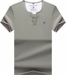 camiseta de manga corta para hombre gris