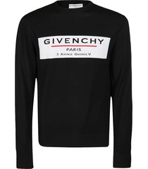 givenchy black wool sweatshirt