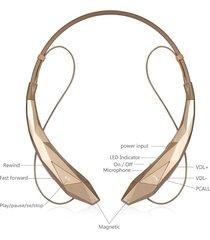 audífonos inalámbricos, estéreo inalámbrico audifonos bluetooth manos libres  4.0 oído hook correa de cuello flex earbud cancelación de ruido auriculares, xse12 (oro)