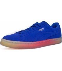 zapatos suede classic azul 362591-01