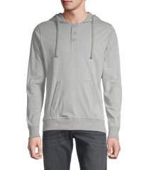 unsimply stitched men's long-sleeve cotton hoodie - light grey - size s