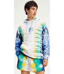 tommy hilfiger men's organic cotton tie-dye hoodie tie dye print - xxl