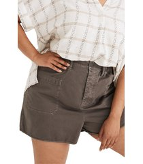 women's madewell baggy pull-on shorts, size large - grey