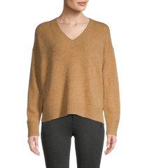 vince women's v-neck sweater - stormy - size xs