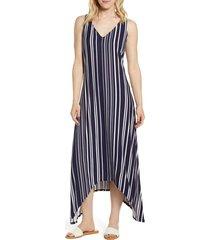women's tommy bahama anoche stripe maxi dress, size x-small - black