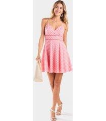 amelle eyelet skater dress - pink