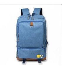 mochila de tejido oxford impermeable para viaje e-hot - azul