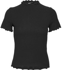 onlemma s/s highneck top noos jrs t-shirts & tops short-sleeved svart only