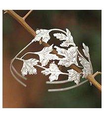 silver cuff bracelet, 'munay' (peru)