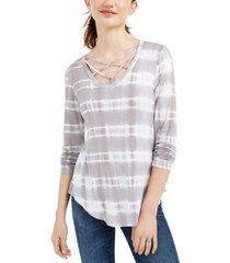ultra flirt juniors' strappy tie-dye t-shirt