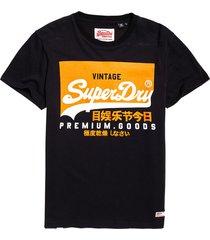 camiseta para hombre vintage logo tee superdry