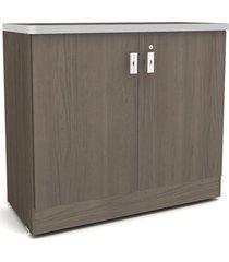 armário balcão com chave teca itália de madeira móveis kappesberg