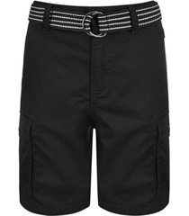 ring of fire big boys cargo shorts with removable d-ring belt, created for macy's