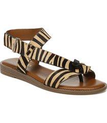 women's franco sarto glenni genuine calf hair sandal, size 6.5 m - brown