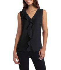 women's sleeveless v-neck blouse cascade