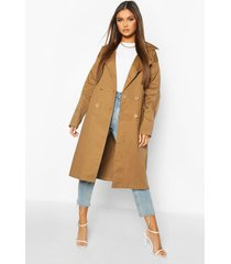 double breasted trench coat, camel
