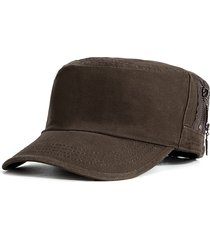 cappellino piatto anti-uv casual da viaggio per uomo militare semplice in cotone resistente