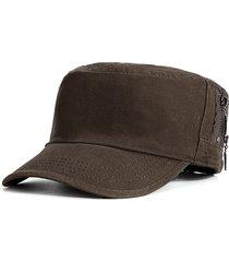 protezione piana anti-uv casuale di viaggio all'aperto del cappello militare del cotone degli uomini durevoli semplici