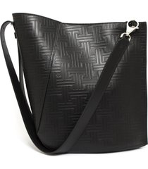 lanvin black leather bucket bag