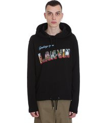 lanvin sweatshirt in black cotton