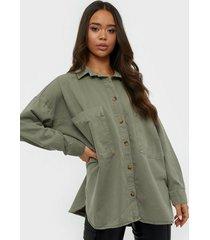 gina tricot oversized denim shirt skjortor