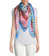 abstract-print silk scarf