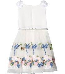 monnalisa dress with flower skirt