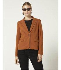 blazer marrón portsaid pique mondrian