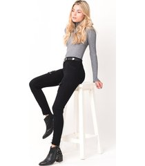 pantalón negro her jeans roturas