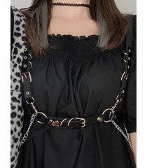 gothic chain charm decorative waist belt