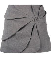 coperni ruched mini skirt - grey