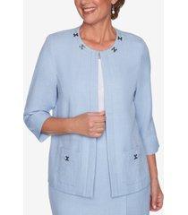 alfred dunner petite french bistro embellished jacket