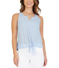 bcx juniors' crisscross tie-front top