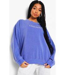 oversized overdye chicago sweater, navy