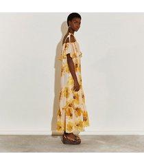 river island womens beige short sleeve bardot maxi dress