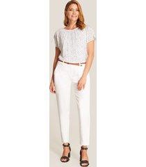 blusa blanca de puntos blanco xs